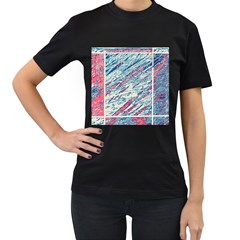 Colorful pattern Women s T-Shirt (Black) (Two Sided)