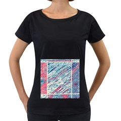 Colorful pattern Women s Loose-Fit T-Shirt (Black)