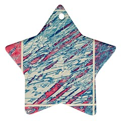 Colorful pattern Star Ornament (Two Sides)