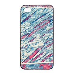 Colorful pattern Apple iPhone 4/4s Seamless Case (Black)