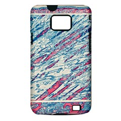 Colorful pattern Samsung Galaxy S II i9100 Hardshell Case (PC+Silicone)