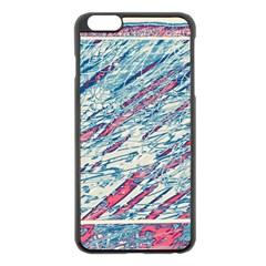 Colorful pattern Apple iPhone 6 Plus/6S Plus Black Enamel Case