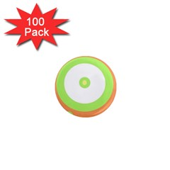 Green and orange design 1  Mini Magnets (100 pack)