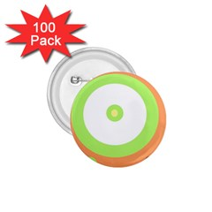 Green and orange design 1.75  Buttons (100 pack)