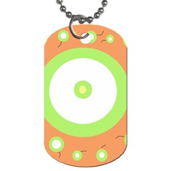 Green and orange design Dog Tag (One Side)