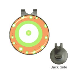 Green and orange design Hat Clips with Golf Markers