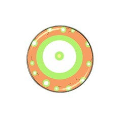 Green and orange design Hat Clip Ball Marker