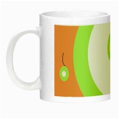 Green and orange design Night Luminous Mugs