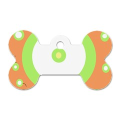 Green and orange design Dog Tag Bone (Two Sides)