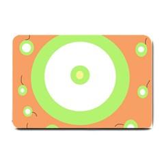 Green and orange design Small Doormat