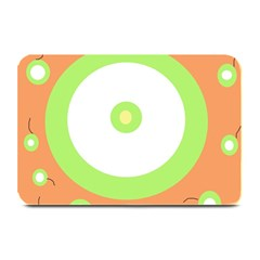 Green and orange design Plate Mats