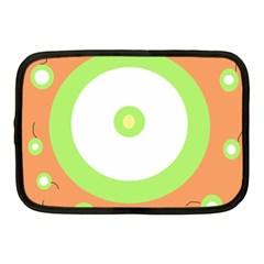 Green and orange design Netbook Case (Medium)