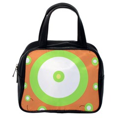 Green and orange design Classic Handbags (One Side)