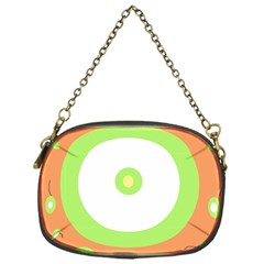 Green and orange design Chain Purses (One Side)