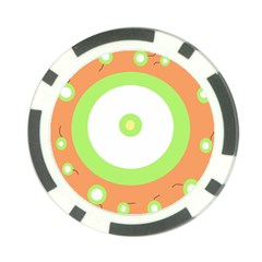 Green and orange design Poker Chip Card Guards (10 pack)