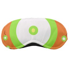 Green and orange design Sleeping Masks