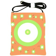 Green and orange design Shoulder Sling Bags