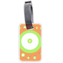 Green and orange design Luggage Tags (One Side)