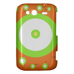 Green and orange design HTC Wildfire S A510e Hardshell Case