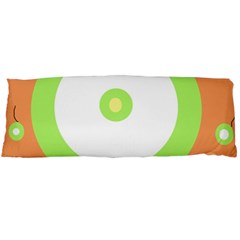 Green and orange design Body Pillow Case Dakimakura (Two Sides)