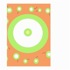 Green and orange design Small Garden Flag (Two Sides)