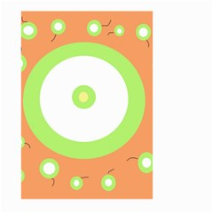Green and orange design Large Garden Flag (Two Sides)