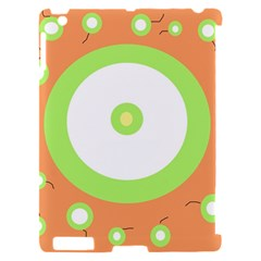 Green and orange design Apple iPad 2 Hardshell Case (Compatible with Smart Cover)