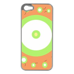 Green and orange design Apple iPhone 5 Case (Silver)