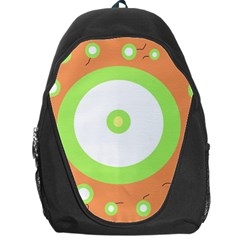 Green and orange design Backpack Bag