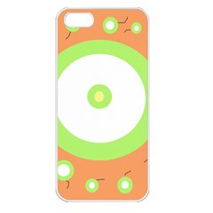 Green and orange design Apple iPhone 5 Seamless Case (White)