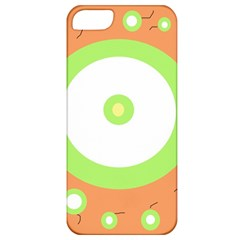 Green and orange design Apple iPhone 5 Classic Hardshell Case