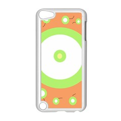 Green and orange design Apple iPod Touch 5 Case (White)