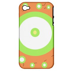 Green and orange design Apple iPhone 4/4S Hardshell Case (PC+Silicone)