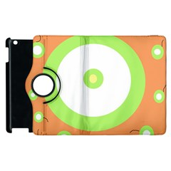 Green and orange design Apple iPad 3/4 Flip 360 Case