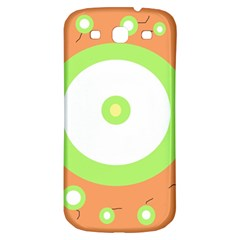 Green And Orange Design Samsung Galaxy S3 S Iii Classic Hardshell Back Case