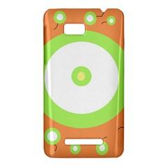 Green and orange design HTC One SU T528W Hardshell Case