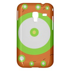 Green and orange design Samsung Galaxy Ace Plus S7500 Hardshell Case