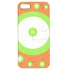 Green and orange design Apple iPhone 5 Hardshell Case with Stand