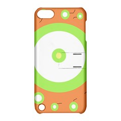Green and orange design Apple iPod Touch 5 Hardshell Case with Stand