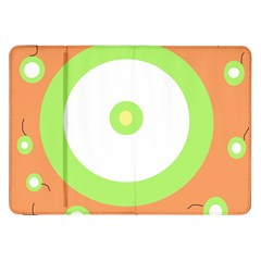 Green and orange design Samsung Galaxy Tab 8.9  P7300 Flip Case