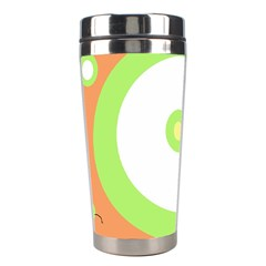 Green and orange design Stainless Steel Travel Tumblers