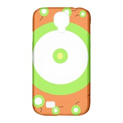 Green And Orange Design Samsung Galaxy S4 Classic Hardshell Case (pc+silicone)