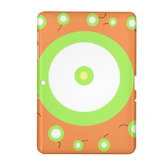 Green and orange design Samsung Galaxy Tab 2 (10.1 ) P5100 Hardshell Case