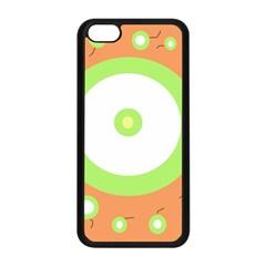 Green and orange design Apple iPhone 5C Seamless Case (Black)