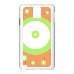Green and orange design Samsung Galaxy Note 3 N9005 Case (White)