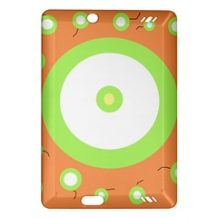 Green and orange design Amazon Kindle Fire HD (2013) Hardshell Case