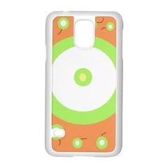 Green and orange design Samsung Galaxy S5 Case (White)