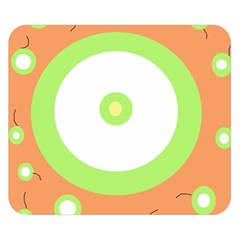 Green and orange design Double Sided Flano Blanket (Small)