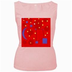 Red sky Women s Pink Tank Top