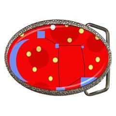 Red sky Belt Buckles